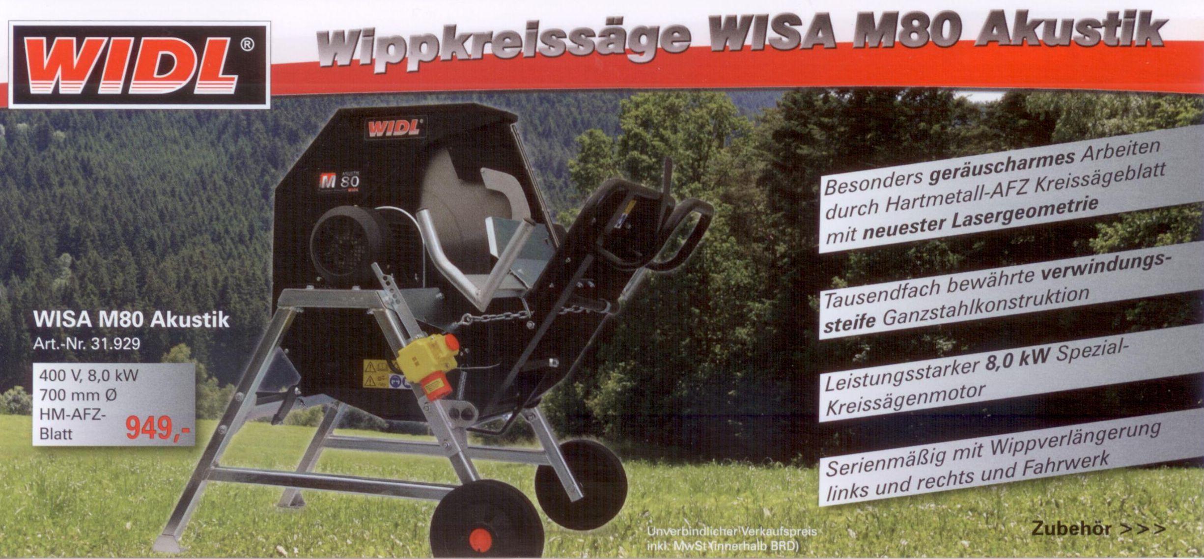 WIDL Wippkreissäge WISA M80 Akustik