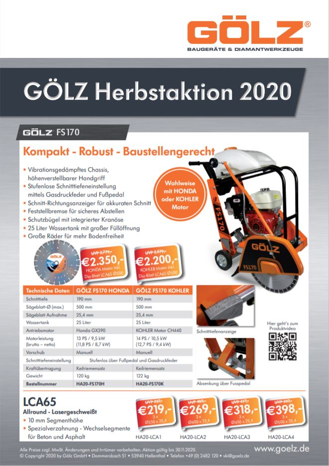 GÖLZ Herbstaktion 2020